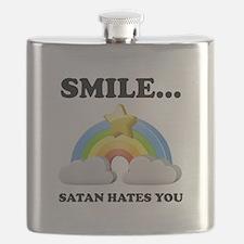 Satan Hates You Flask