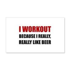 Workout Beer Wall Decal