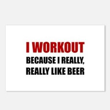 Workout Beer Postcards (Package of 8)