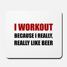 Workout Beer Mousepad