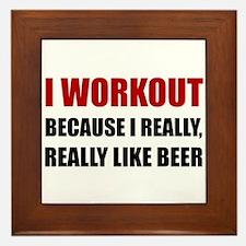 Workout Beer Framed Tile