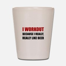 Workout Beer Shot Glass