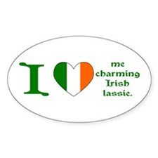I (Heart) Irish Lassie Oval Decal