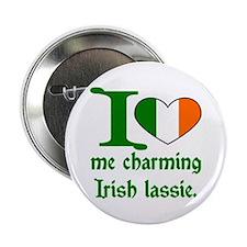 I (Heart) Irish Lassie Button