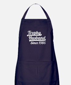 Trophy Husband Since 1986 Apron (dark)