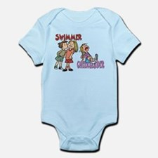 Swimmers vs Cheerleaders Infant Bodysuit