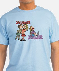 Swimmers vs Cheerleaders T-Shirt