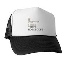Coffee Then Rotoscope Trucker Hat