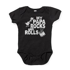 My Papa Rocks And Rolls Baby Bodysuit