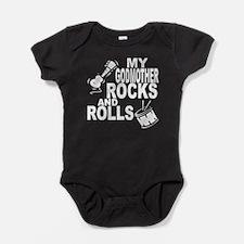 My Godmother Rocks And Rolls Baby Bodysuit