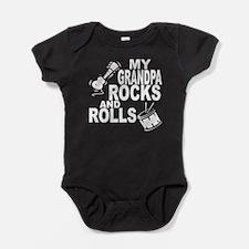 My Grandpa Rocks And Rolls Baby Bodysuit