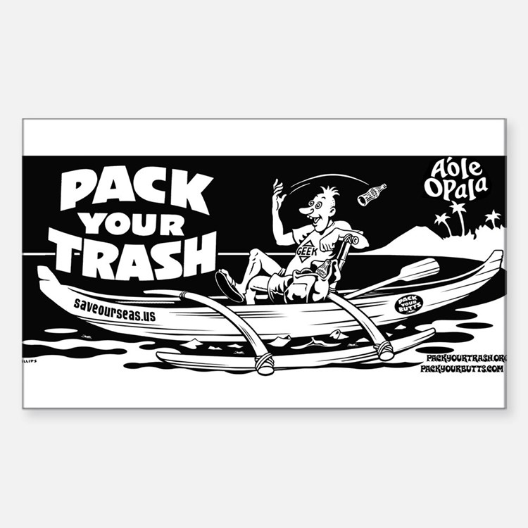 Cute Canoe Sticker (Rectangle 10 pk)