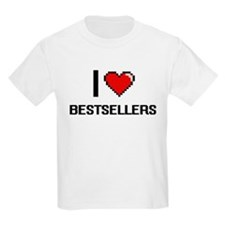 I Love Bestsellers Digitial Design T-Shirt