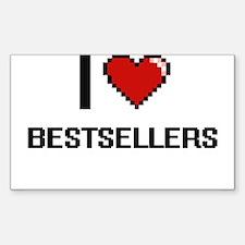 I Love Bestsellers Digitial Design Decal