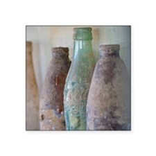 "Antique Bottles Square Sticker 3"" x 3"""