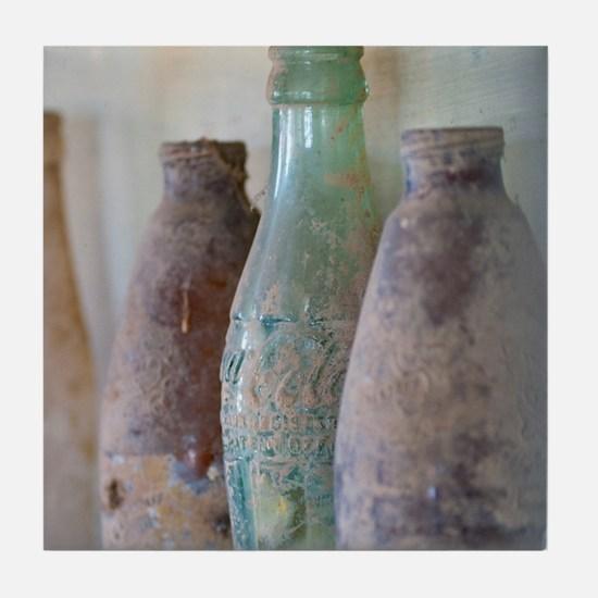 Antique Bottles Tile Coaster