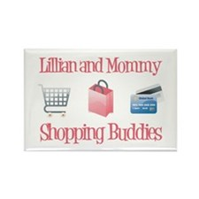 Lillian - Shopping Buddies Rectangle Magnet (10 pa