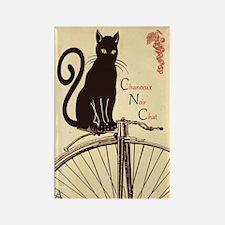 Lucky Black Cat Rectangle Magnet