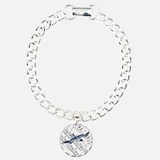 modern ocean nautical se Charm Bracelet, One Charm