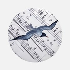 modern ocean nautical seagull Ornament (Round)