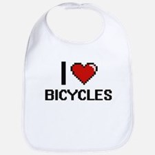 I Love Bicycles Digitial Design Bib