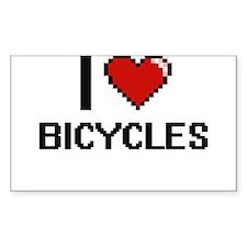 I Love Bicycles Digitial Design Decal