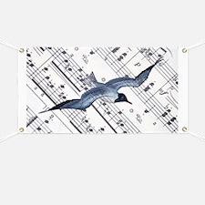 modern ocean nautical seagull Banner