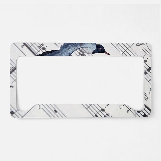modern ocean nautical seagull License Plate Holder