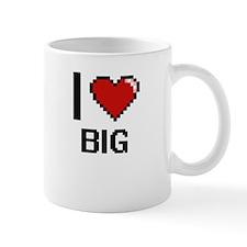 I Love Big Digitial Design Mugs
