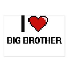 I Love Big Brother Digiti Postcards (Package of 8)
