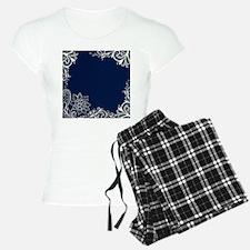 navy blue white lace Pajamas