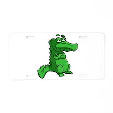 Cartoon Alligator Aluminum License Plate