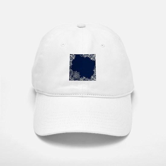 navy blue white lace Baseball Baseball Cap