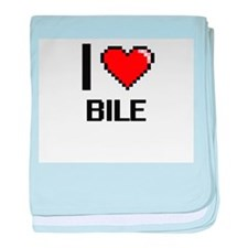 I Love Bile Digitial Design baby blanket