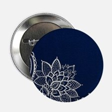 """navy blue white lace 2.25"""" Button (10 pack)"""