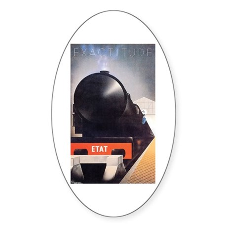 The Poster Art Seven Store Oval Sticker