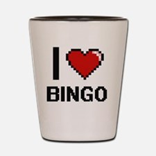 I Love Bingo Digitial Design Shot Glass