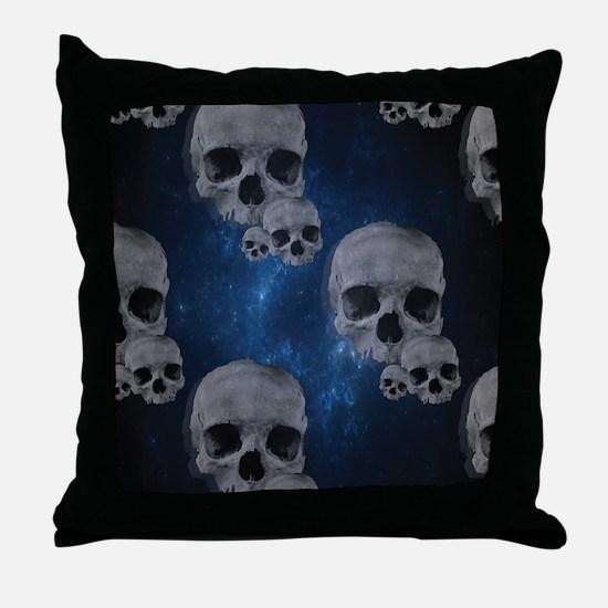 Cool Stars and skulls Throw Pillow