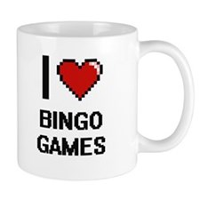 I Love Bingo Games Digitial Design Mugs