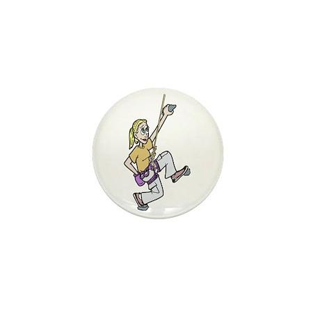 Girl Climbing Mini Button