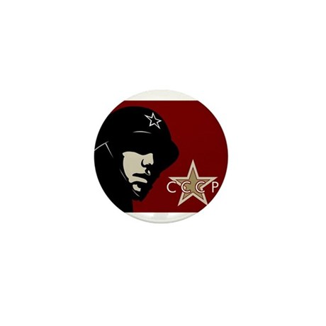 Soviet Soldier Mini Button