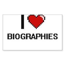 I Love Biographies Digitial Design Decal