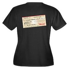 Paid in Full Women's Plus Size V-Neck Dark T-Shirt