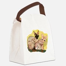 Tiger & George - Cornish Rex Cats Canvas Lunch Bag
