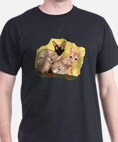 Tiger & George - Cornish Rex Cats T-Shirt