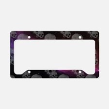 Cute Purple skull License Plate Holder