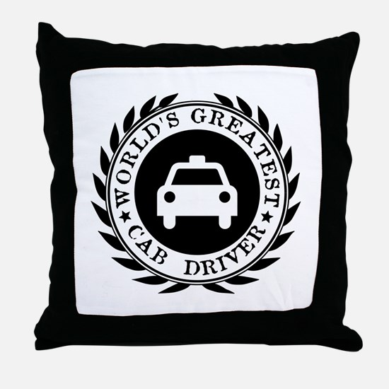 World's Greatest Cab Driver Throw Pillow