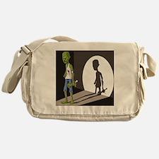 Zombie In Spotlight Messenger Bag