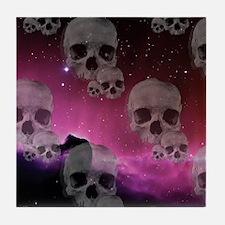 Cute Purple skull Tile Coaster