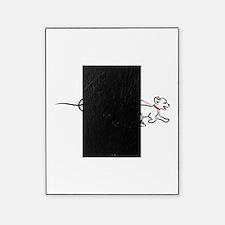 dog walk chalk Picture Frame